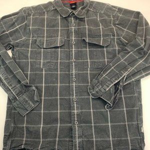 The North Face Mens Button Front Shirt Gray